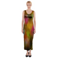 Star Background Texture Pattern Fitted Maxi Dress