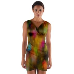 Star Background Texture Pattern Wrap Front Bodycon Dress