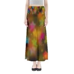 Star Background Texture Pattern Maxi Skirts