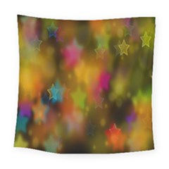 Star Background Texture Pattern Square Tapestry (large)