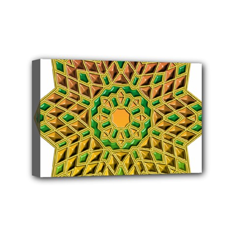 Star Pattern Tile Background Image Mini Canvas 6  X 4