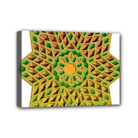 Star Pattern Tile Background Image Mini Canvas 7  X 5
