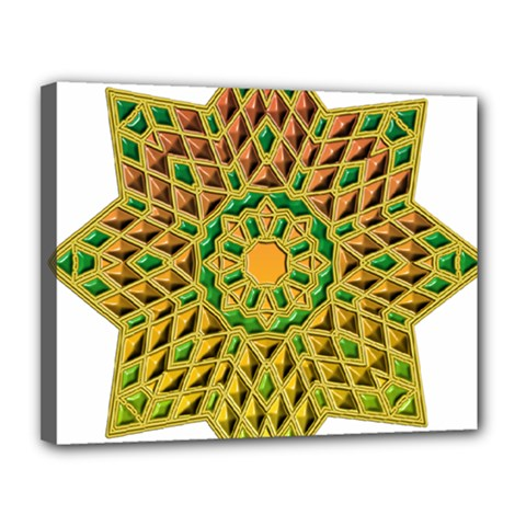 Star Pattern Tile Background Image Canvas 14  X 11