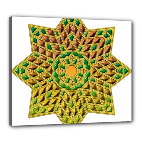 Star Pattern Tile Background Image Canvas 24  X 20