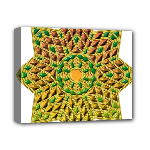 Star Pattern Tile Background Image Deluxe Canvas 14  X 11