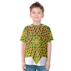 Star Pattern Tile Background Image Kids  Cotton Tee