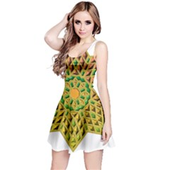 Star Pattern Tile Background Image Reversible Sleeveless Dress