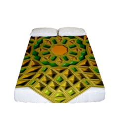 Star Pattern Tile Background Image Fitted Sheet (full/ Double Size)