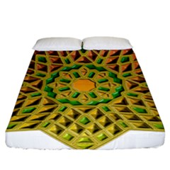 Star Pattern Tile Background Image Fitted Sheet (king Size)