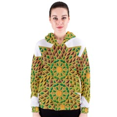 Star Pattern Tile Background Image Women s Zipper Hoodie