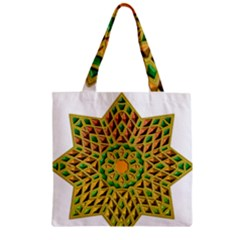 Star Pattern Tile Background Image Zipper Grocery Tote Bag