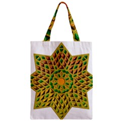 Star Pattern Tile Background Image Zipper Classic Tote Bag