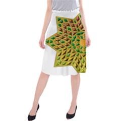 Star Pattern Tile Background Image Midi Beach Skirt
