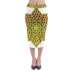 Star Pattern Tile Background Image Midi Pencil Skirt