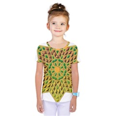 Star Pattern Tile Background Image Kids  One Piece Tee
