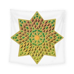 Star Pattern Tile Background Image Square Tapestry (small)