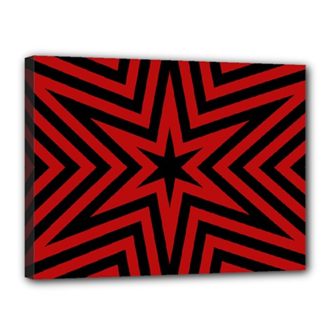 Star Red Kaleidoscope Pattern Canvas 16  X 12