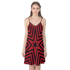 Star Red Kaleidoscope Pattern Camis Nightgown