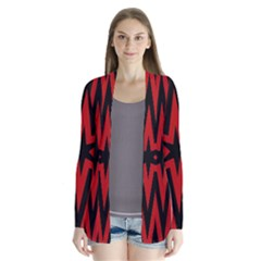 Star Red Kaleidoscope Pattern Cardigans