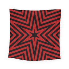 Star Red Kaleidoscope Pattern Square Tapestry (small)