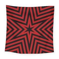Star Red Kaleidoscope Pattern Square Tapestry (large)