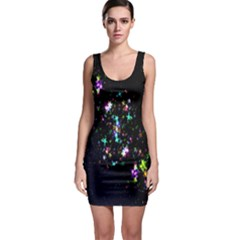 Star Structure Many Repetition Sleeveless Bodycon Dress