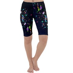 Star Structure Many Repetition Cropped Leggings
