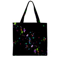Star Structure Many Repetition Zipper Grocery Tote Bag