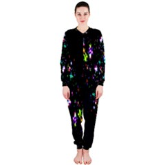 Star Structure Many Repetition Onepiece Jumpsuit (ladies)
