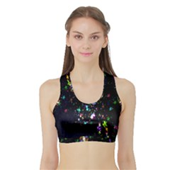 Star Structure Many Repetition Sports Bra With Border