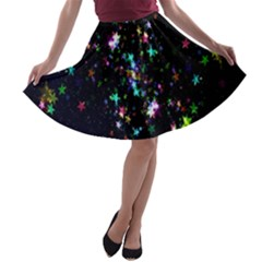 Star Structure Many Repetition A Line Skater Skirt