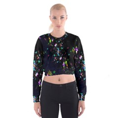 Star Structure Many Repetition Women s Cropped Sweatshirt