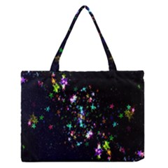 Star Structure Many Repetition Medium Zipper Tote Bag