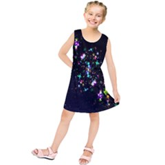 Star Structure Many Repetition Kids  Tunic Dress