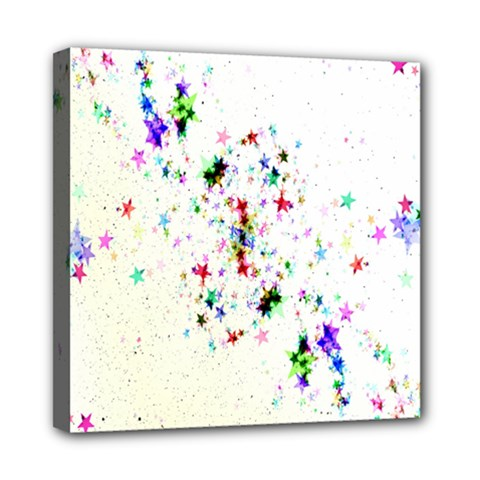 Star Structure Many Repetition Mini Canvas 8  X 8