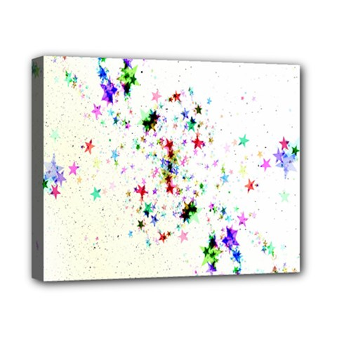 Star Structure Many Repetition Canvas 10  X 8
