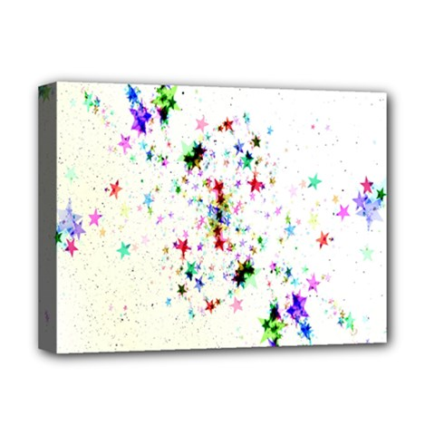 Star Structure Many Repetition Deluxe Canvas 16  X 12