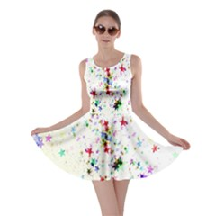 Star Structure Many Repetition Skater Dress