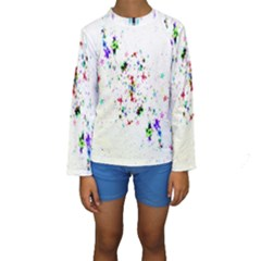 Star Structure Many Repetition Kids  Long Sleeve Swimwear