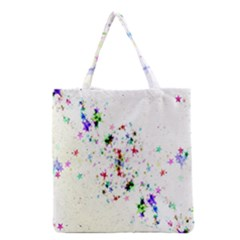 Star Structure Many Repetition Grocery Tote Bag