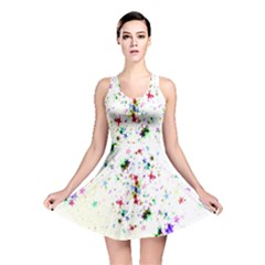 Star Structure Many Repetition Reversible Skater Dress