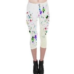 Star Structure Many Repetition Capri Leggings
