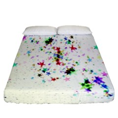 Star Structure Many Repetition Fitted Sheet (queen Size)