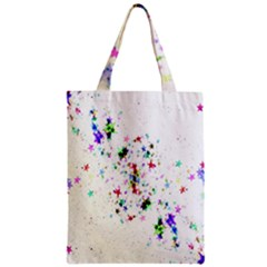 Star Structure Many Repetition Zipper Classic Tote Bag