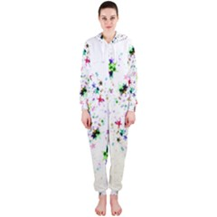 Star Structure Many Repetition Hooded Jumpsuit (ladies)