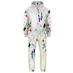 Star Structure Many Repetition Hooded Jumpsuit (men)