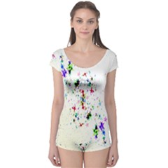Star Structure Many Repetition Boyleg Leotard