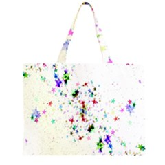 Star Structure Many Repetition Large Tote Bag