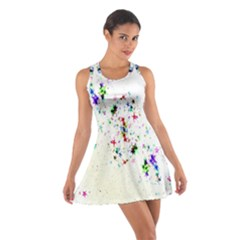 Star Structure Many Repetition Cotton Racerback Dress