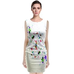 Star Structure Many Repetition Classic Sleeveless Midi Dress